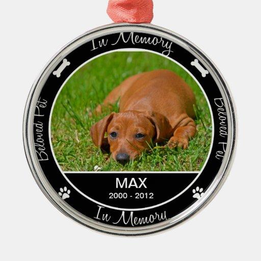 Memorial - Loss of Dog- Custom Photo/Name Ornament