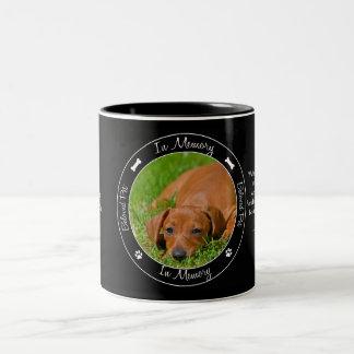 Memorial - Loss of Dog - Custom Photo/Name Two-Tone Coffee Mug