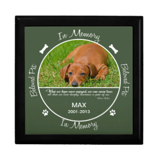 Memorial - Loss of Dog Jewelry Boxes