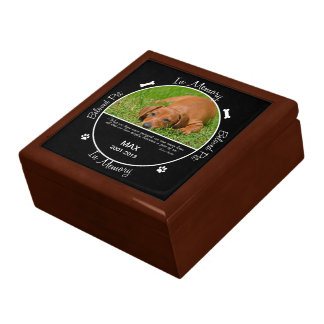 Memorial - Loss of Dog Jewelry Box