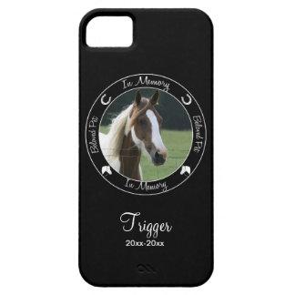 Memorial - Loss of Horse - Custom Photo/Name iPhone SE/5/5s Case