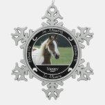 Memorial - Loss of Horse- Custom Photo/Name Ornaments