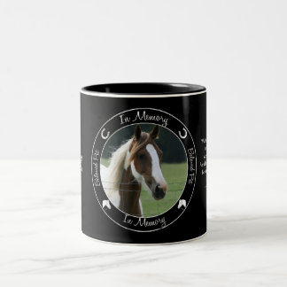 Memorial - Loss of Horse - Custom Photo/Name Two-Tone Coffee Mug