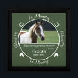 """Memorial - Loss of Horse Keepsake Box<br><div class=""""desc"""">Insert your horse&#39;s photo and birth/death date on this custom photo box to memorialize your beloved pet.</div>"""