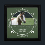 "Memorial - Loss of Horse Keepsake Box<br><div class=""desc"">Insert your horse&#39;s photo and birth/death date on this custom photo box to memorialize your beloved pet.</div>"