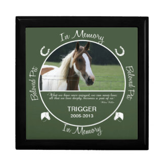 Memorial - Loss of Horse Keepsake Box