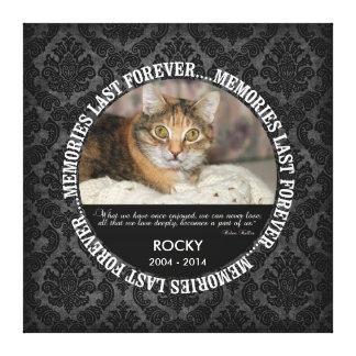 Memorial - Loss of Pet Custom Photo / Name Canvas Print