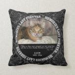 Memorial - Loss of Pet Custom Photo / Name Throw Pillow