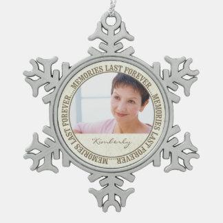 Memorial - Memories Last Forever Custom Photo/Name Ornaments