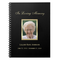 Memorial or Funeral Guest Book Notebook