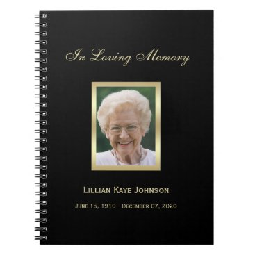 sympathythankyou Memorial or Funeral Guest Book Notebook