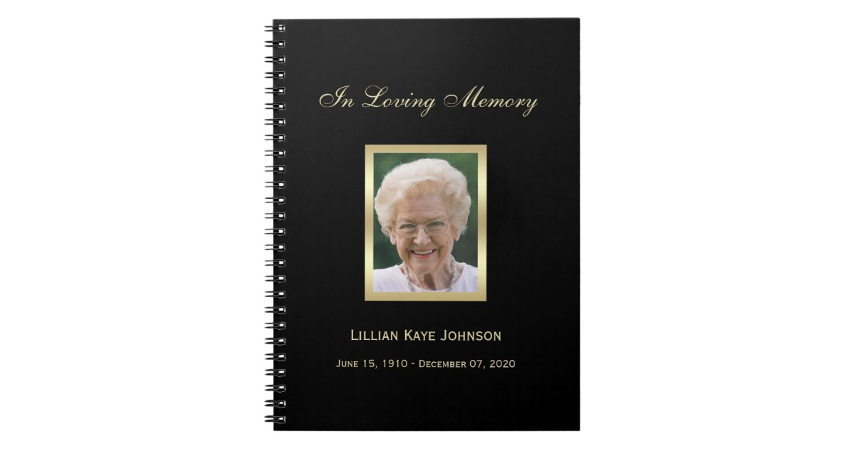 Memorial Or Funeral Guest Book Notebook Zazzle Com