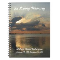 Memorial or Funeral Guest Book Notebook