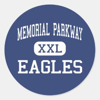 Memorial Parkway - Eagles - Junior - Katy Texas Round Sticker