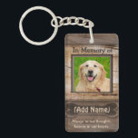 "Memorial | Pet Keychain<br><div class=""desc"">A comforting keychain for the loss of any type of pet features a light wood look and heart shaped dog paw prints.</div>"