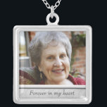 "Memorial Photo Necklace<br><div class=""desc"">Custom photo necklace,  with space for personalization.  Click &quot;customize&quot; to adjust photo size or text size.</div>"