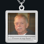 """Memorial Photo Necklace<br><div class=""""desc"""">Custom photo necklace,  with space for personalization.  Click &quot;customize&quot; to adjust photo size or text size.</div>"""