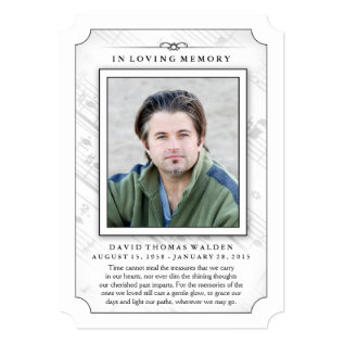 Memorial Photo Sympathy Thank You - Music Notes Card at Zazzle