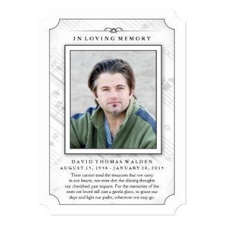 Memorial Photo Sympathy Thank You - Music Notes Card