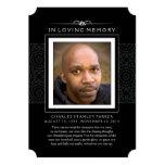 Memorial Photo Thank You Card - Elegant Black