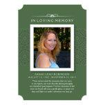 Memorial Photo Thank You Card- Elegant Green