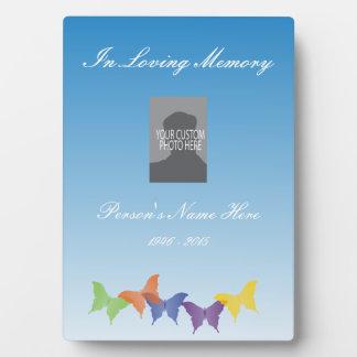 Memorial Plaque with Butterflies