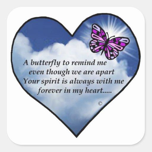 Memorial Poem Square Sticker