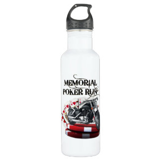 Memorial Poker Run Style Water Bottle
