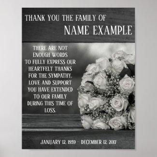 Memorial Poster A bouquet...