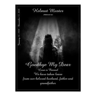 Memorial Poster Into the light - goodbye my dear