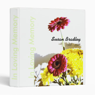 Memorial Remembrance Book Personalized Binder