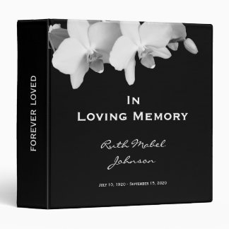 Memorial Remembrance Personalized Floral Binder