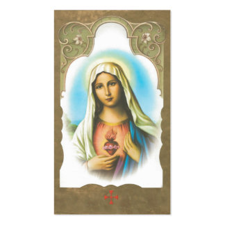 Memorial Sacred Heart of Mary Prayer Card Double-Sided Standard Business Cards (Pack Of 100)