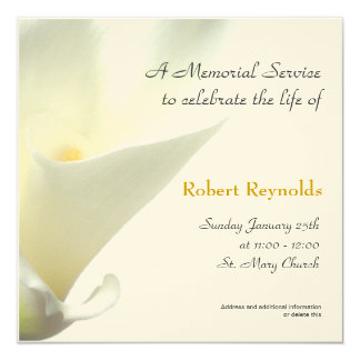 Memorial Service Announcement  Memorial Service Invitation Sample