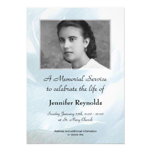 Personalized Remembrance service Invitations – Memorial Service Invitation Sample