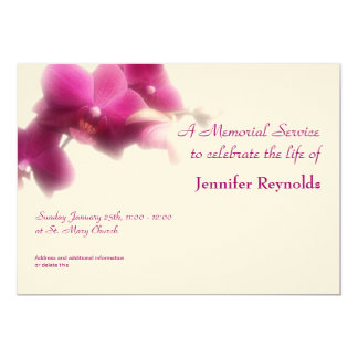 "Memorial Service Announcement 5"" X 7"" Invitation Card"