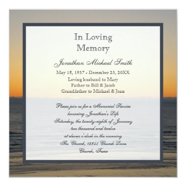 sympathythankyou Memorial Service Announcement Invitation