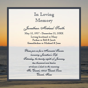 remembrance invitations zazzle