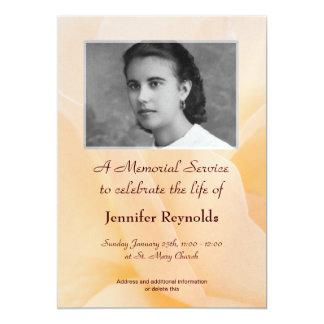 """Memorial Service Announcement 5"""" X 7"""" Invitation Card"""