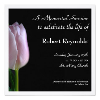 "Memorial Service Announcement 5.25"" Square Invitation Card"