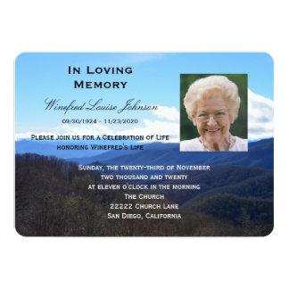 Memorial Service Announcement Invitation Photo