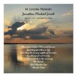 Memorial Service Announcement Invitation -- Sunset