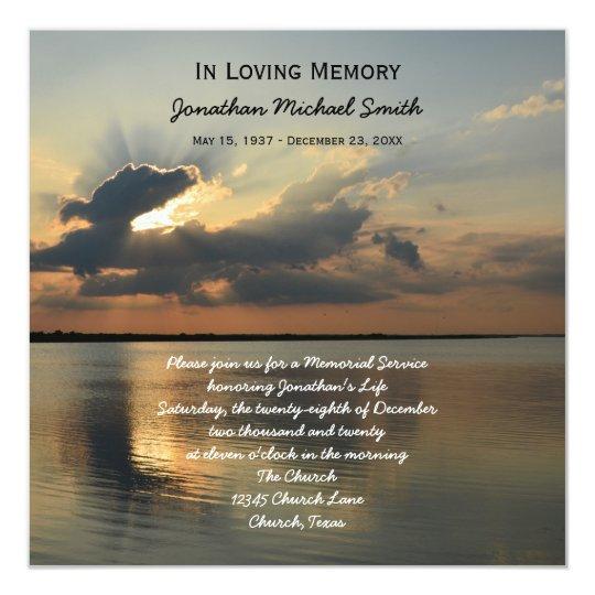 memorial service invitation