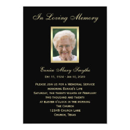 Memorial service invitations announcements zazzle memorial service announcement invitations photo stopboris Choice Image