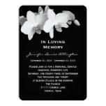"Memorial Service Announcement - Orchids 5"" X 7"" Invitation Card"