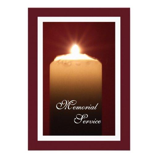 Memorial Service Candle Invitation Announcement 5 Quot X 7
