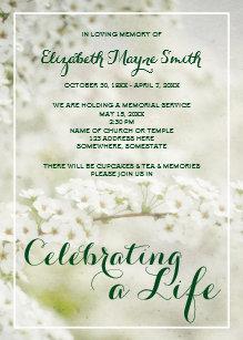 Death Anniversary Invitations Zazzle