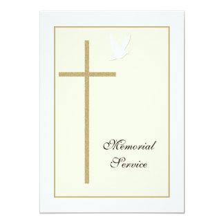 """Memorial Service Christian Invitation Announcement 5"""" X 7"""" Invitation Card"""
