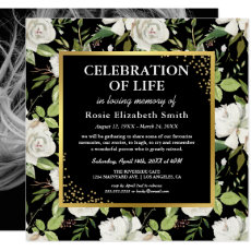 Memorial Service | Elegant Photo Funeral Invitation