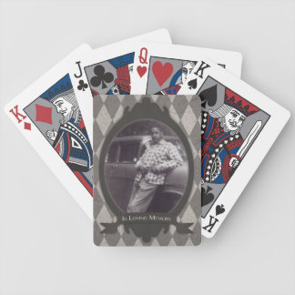 memorial service gift bicycle poker deck